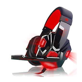 EastVita PC780 Gaming Headphones Headset Headphones Over Ear with Microphone Red