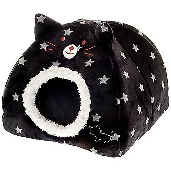Ferribiella Igloo Cat with Starry Pattern (Cats , Bedding , Igloos)