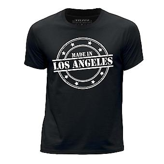 STUFF4 Boy's Round Neck T-Shirt/Made In Los Angeles/Black