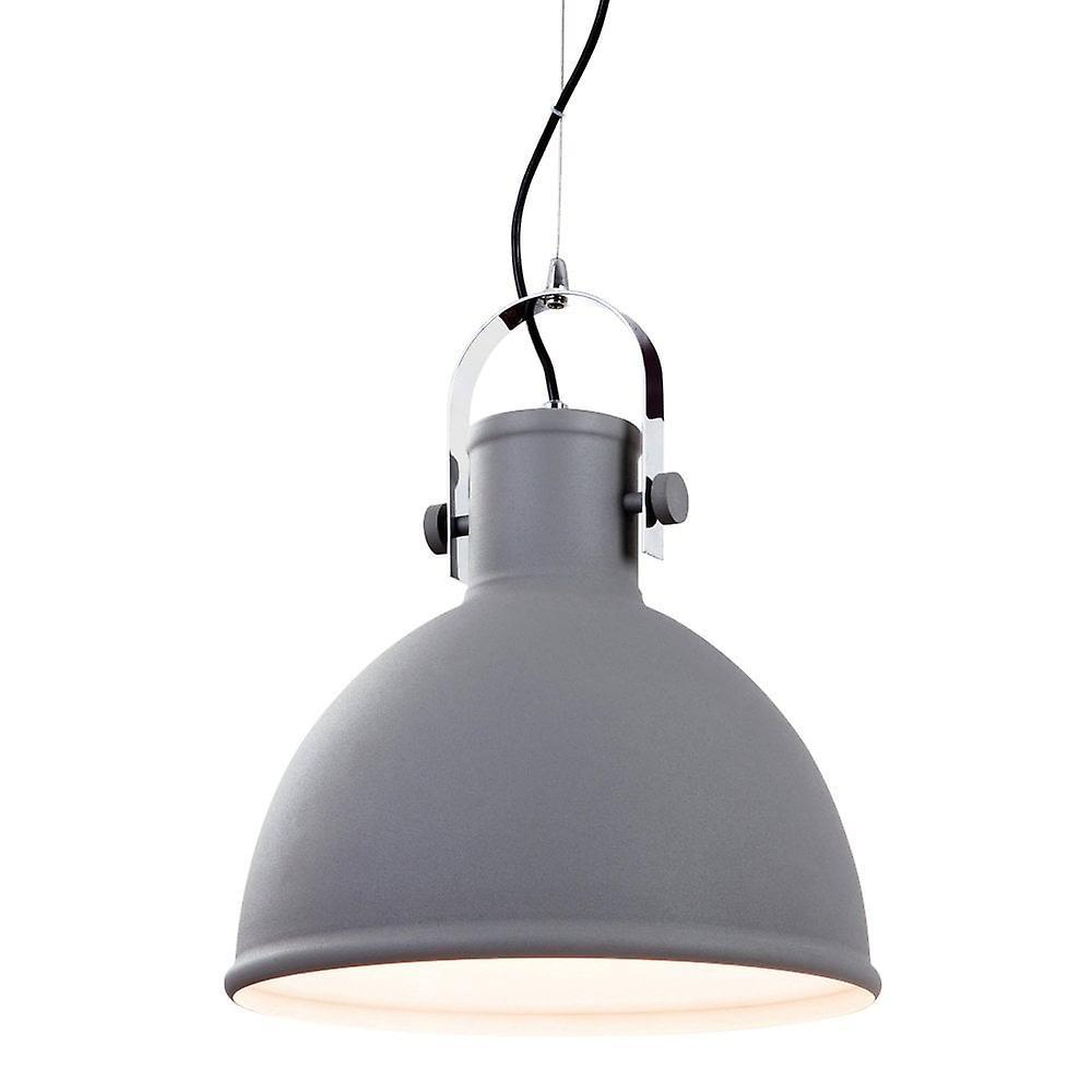 Firstlight Vida Concrete And Chrome Pendant Light