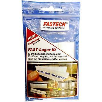 FASTECH® 610-010-Bag Haken-und-Loop-Label-Patches Stick-on White 10 Stück(s)