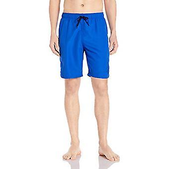 "Nike Swim Men's Logo Solid Lap 9"" Volley Short Swim Trunk, Hyper Royal, X-Large"