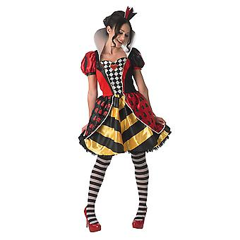 Alice In Wonderland Womens/Ladies Sassy Red Queen Costume