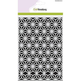 CraftEmotions Mask stencil - Triangle flower A5 Botanical Nature