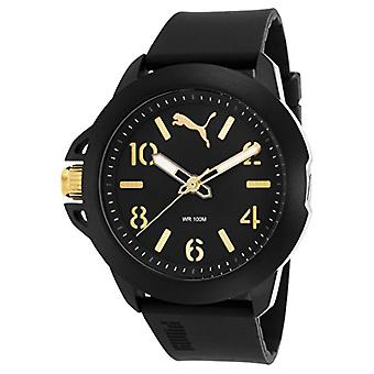 Cougar Time Impact One wrist watch, analog, Silicon band, Black/Yellow