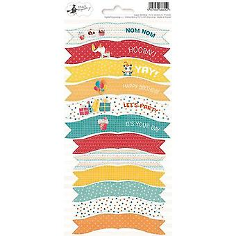 Piatek13 - Sticker sheet Party Happy Birthday 01 P13-420 10.5x23 cm