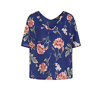 Girls On Film bochtige Womens/dames Floral Print Blouse