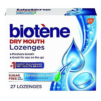 Biotene lozenges, sugar free, refreshing mint, 27 ea