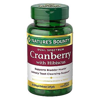 Nature's bounty dual spectrum cranberry with hibiscus, softgels, 60 ea