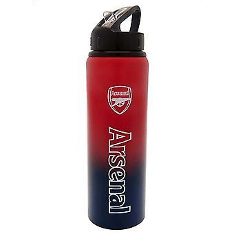 Arsenal FC Team Merchandise Aluminium Fade Water Bottle 750ml Red/Navy Blue