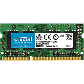 Crucial CT4G3S186DJM 4 GB Mac Memory, DDR3/DDR3L, 1866 MT/s, PC3-14900, SODIMM, 204-Pin