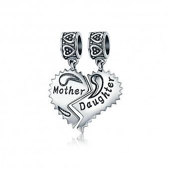 Sterling Silver Pendant Charm Mãe e Filha Amor - 5291