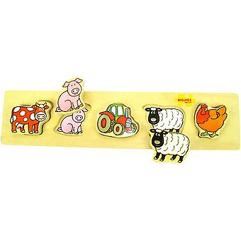 Bigjigs Wooden Chunky Lift and Match - Farm