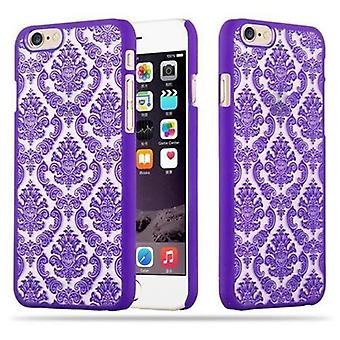 Apple iPhone 6 / iPhone 6S Custodia rigida in LILA di Cadorabo - Flowers Paisley Henna Design Protective Case – Phone Case Bumper Back Case Cover