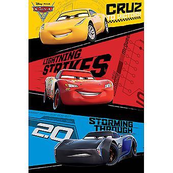 Cars Bilar 3 Trio Maxi Poster