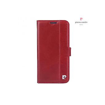 Pierre Cardin Leather Bookcase Case Samsung Galaxy S6 - Bordeaux Red