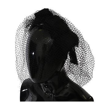 Dolce & Gabbana Black Silk Blend Netted Bow Hair Headband -- SMYK908848