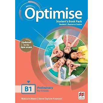 Optimise B1 Students Book Pack di Mark Ormerod & Malcolm Mann & Steve Taylore Knowles
