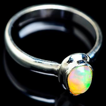 Natural Ethiopian Opal Ring Size 10 (925 Sterling Silver)  - Handmade Boho Vintage Jewelry RING5089