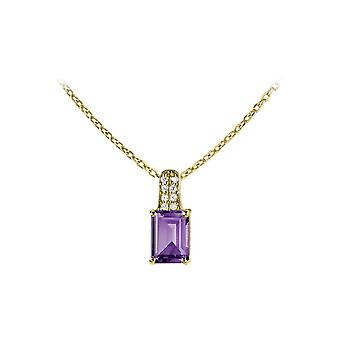 Jacques Lemans - Chain sterling silver plated with amethyst - SE-C114I
