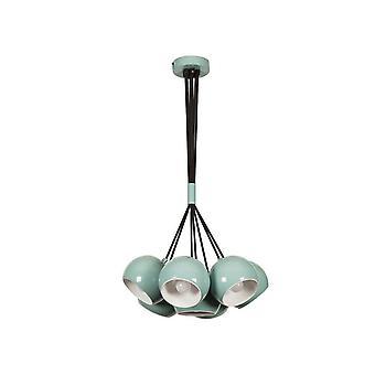 Lampada a Sospensione Multi Color Turchese, Bianco in Metallo 45x45x108 cm
