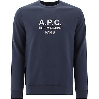 A.p.c. Coebhh27500lad Men's Grey Cotton Sweatshirt