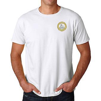 South Wales Grenzbewohnern gestickte Logo WW1 - offizielle britische Armee Ringspun-T-Shirt