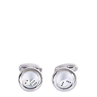 Paul Smith M1acuffamove1a Men's Silver Metal Cuff Links