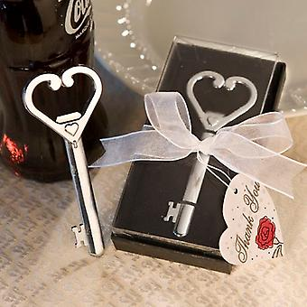 Heart Accented Key Bottle Opener