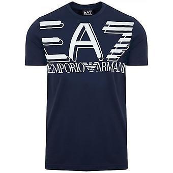 EA7 Navy Printed Logo T-Shirt