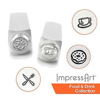 ImpressArt Food and Drink Design Metal Stamping, Metal Stamps, 6mm