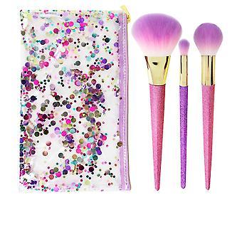 Echte technieken Brush Crush Shimmer & Shine Set Set 4 Pz voor vrouwen