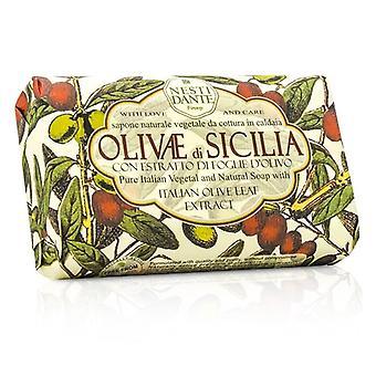 Extracto de Nesti Dante jabón Natural con hoja de olivo italiano - Olivae Di Sicilia 150g/3.5 oz
