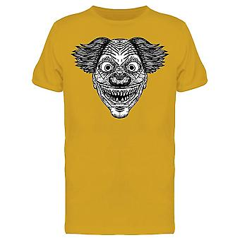 Scary Clown Head Graphic Tee Men's -Image by Shutterstock