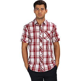 Regatta Men's Deakin III Kurzarm Shirt weiß/rot