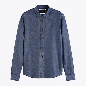 Scotch & Soda  - Structured Cotton Shirt - Blue