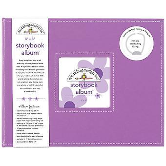 Doodlebug Diseño Lilac 8x8 pulgadas Storybook Album