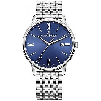 Maurice Lacroix Eliros Mens bleu cadran en acier inoxydable montre Bracelet EL1118-SS002-410-2