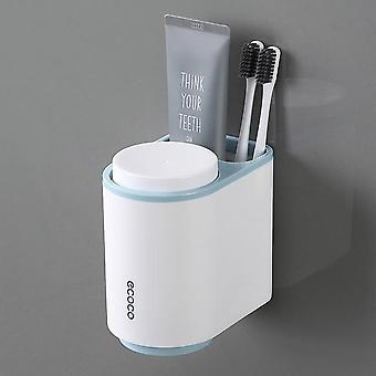 Automatic Dust Proof Toothpaste Dispenser & Toothbrush Holder With Cups Bathroom Accessories Sets