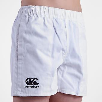 坎特伯雷专业孩子棉花橄榄球短裤