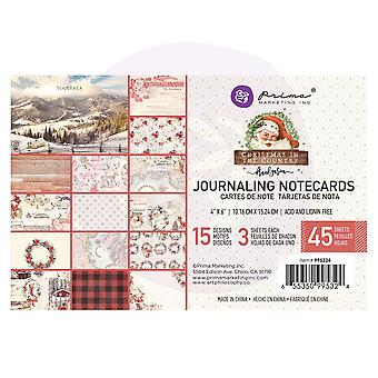 Prima Marketing Christmas In The Country 4x6 Journaling Cards