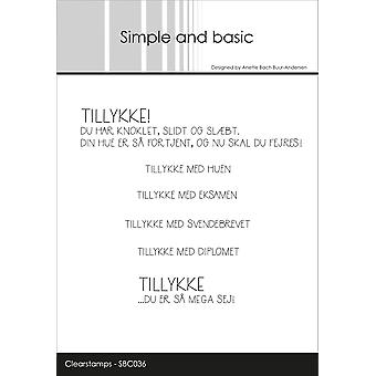 Simple and Basic Danish Texts 3 Clear Stamps