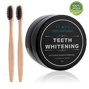 Teeth Whitening 30g Powder Smoke Coffee Tea Stain Remove Bamboo Activated Charcoal Powder
