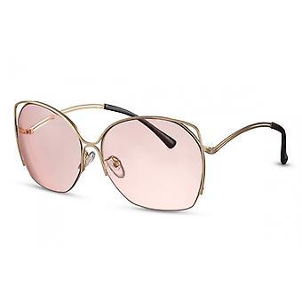 نظارات شمسية المرأة الفراشة Cat.2 الذهب / الوردي (CWI1351)