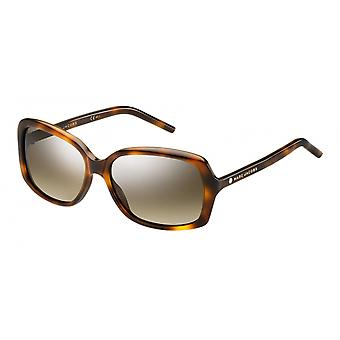Sunglasses Women Rectangular Havana/Brown