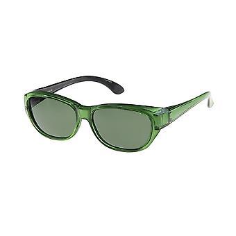 Óculos de Sol Verde Unissex com Lente Verde Vz0027pt