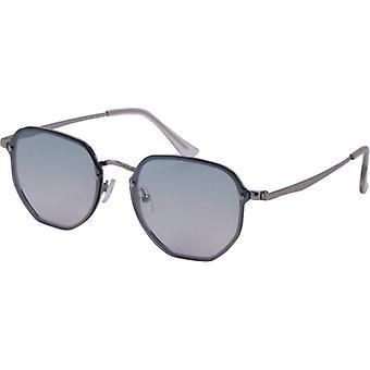 Sonnenbrille Unisex  TrendKat. 3 silber/grün (3230-B)