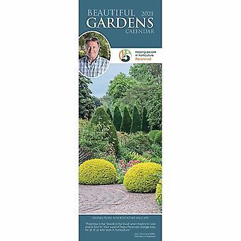 Otter House 2021 Slim Calendar-beautiful Gardens