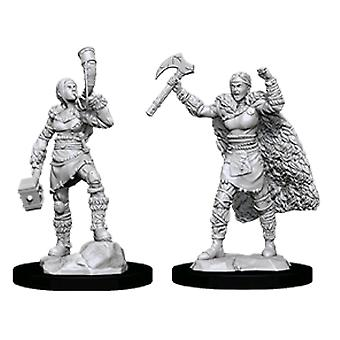 D&D Nolzur Marvelous Uncurted Minis Female Human Barbarian