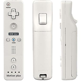 GnG Motion Plus + Remote Controller Compatible with Nintendo Wii & Wii U built in Sensor White